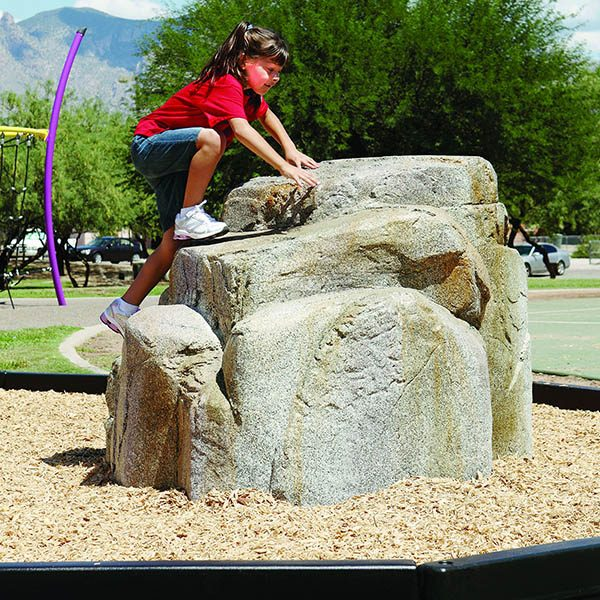 Small Granite Climbing Boulder