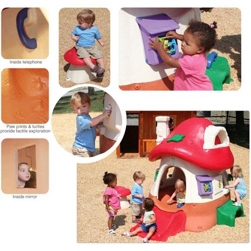 Tot Town Mushroom Kottage playhouse