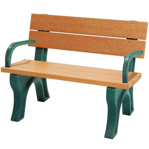 Traditional Recycled Park Bench 4ft