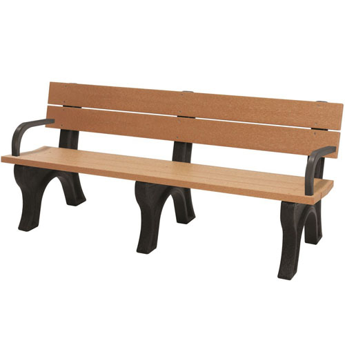 Traditional Recycled Park Bench 6ft