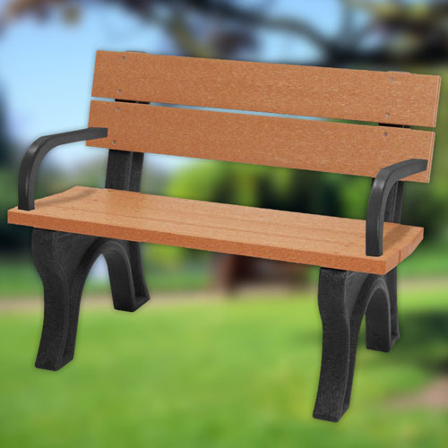 Traditional Recycled Park Bench