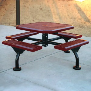 Web Style Infinity Square Picnic Table