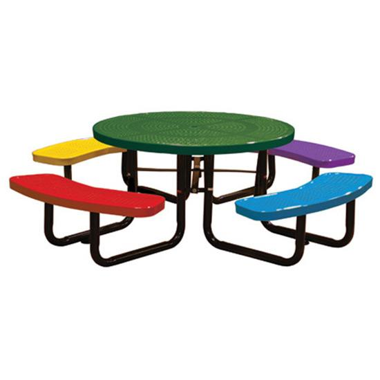 46in. Round Perforated Children's Picnic Table