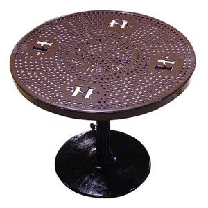 Personalized 46in. Perforated Pedestal Table