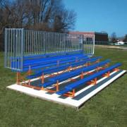 5 Row Powder Coated Bleachers