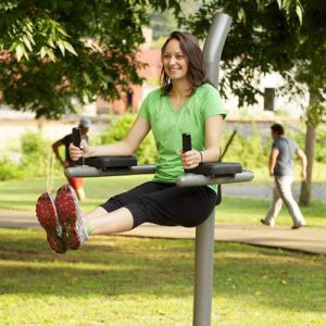 captain's chair outdoor fitness equipment