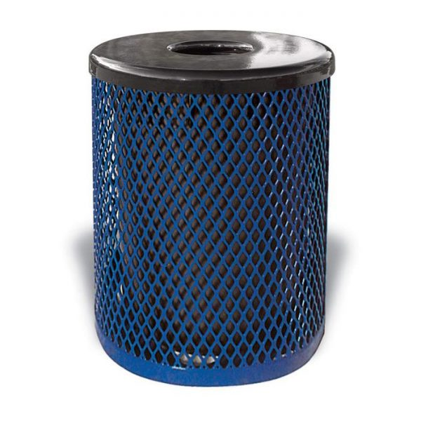 Thermoplastic Coated Ultra Trash Receptacle (Diamond)