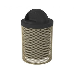 Perforated 32 Gallon Trash Receptacle