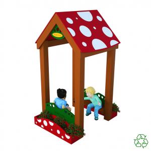 Mushroom Trellis Playhouse