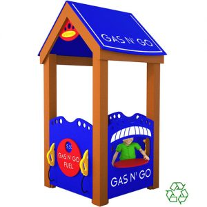 Gas-N-Go Station Playhouse