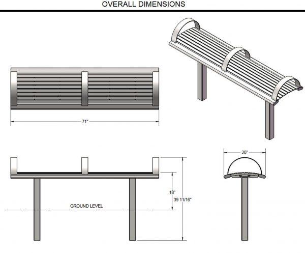 Richmond Bench dimenions