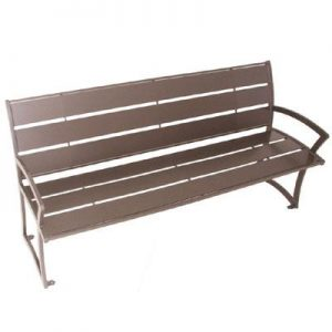 bench, wood bench, powder coated bench
