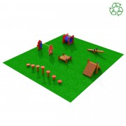 Pouch Pounce Dog Obstacle Course