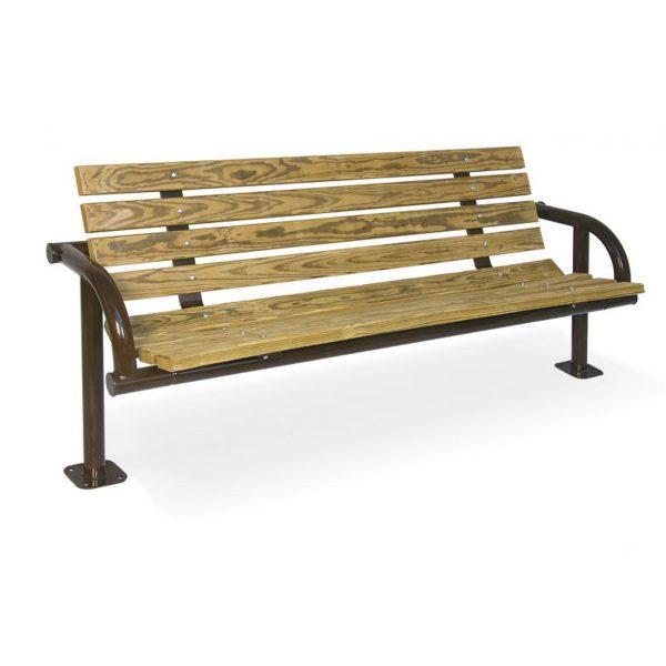 Single-Post Contour Park Bench