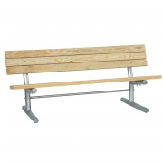 Wood Team Bench with Back