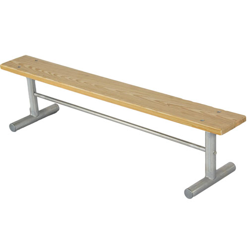 Backless Wood Team Bench