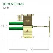 Sun Palace Extreme Swing Set diagram