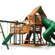 Treasure Trove II Swing Set system back view