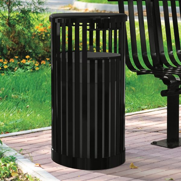 Kensington Trash Receptacle Black