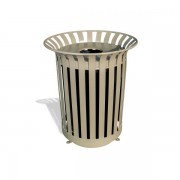 Lexington Trash Receptacle Beige