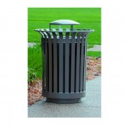 Lexington Trash Receptacle Grey