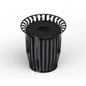 Oxford Trash Receptacle Black