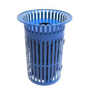 Swing Door Trash Receptacle