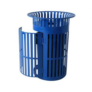 Swing Door Trash Receptacle Thermoplastic Finish