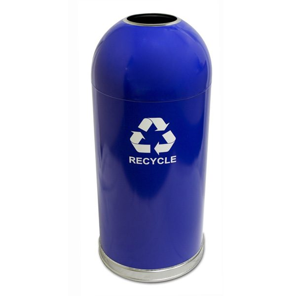 Dome Top Recycling Containers blue