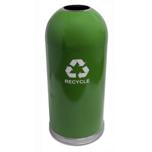 Dome Top Recycling Containers green