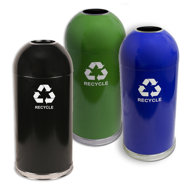 Dome Top Recycling Containers