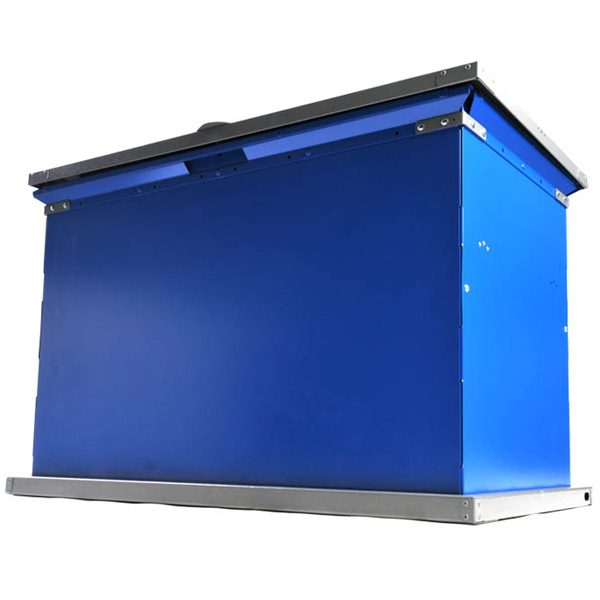 grizzly trash receptacle blue charcoal