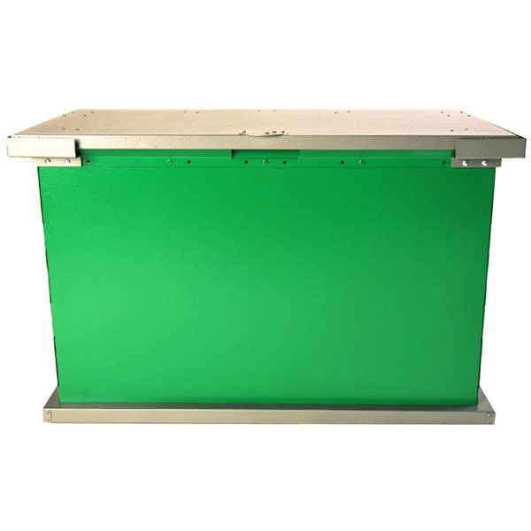 grizzly trash receptacle green charcoal