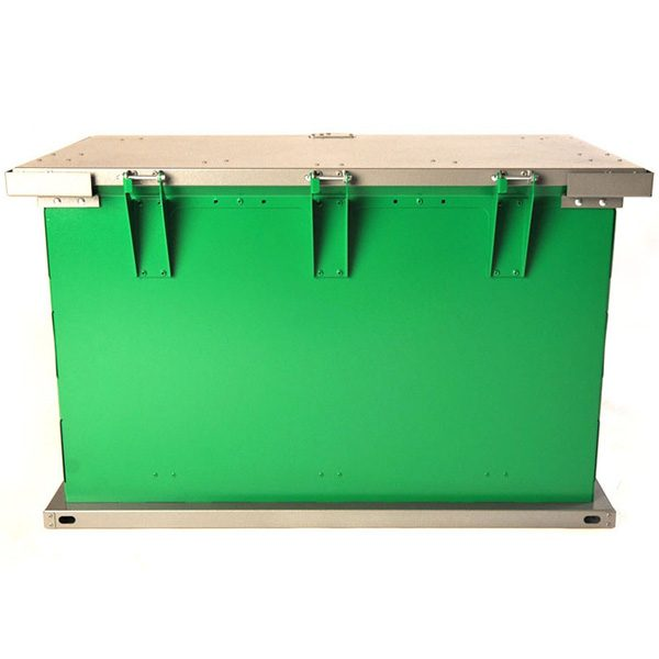 grizzly trash receptacle green charcoal hinges