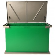 grizzly trash receptacle green charcoal shock lift