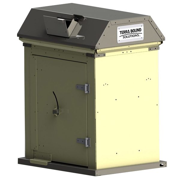 Picnic Waste Receptacle beige charcoal