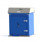 Picnic Waste Receptacle blue charcoal