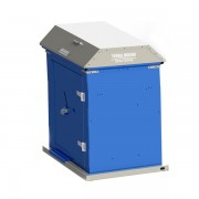 Picnic Waste Receptacle blue charcoal bin