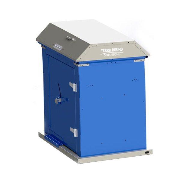 Picnic Waste Receptacle blue charcoal bin