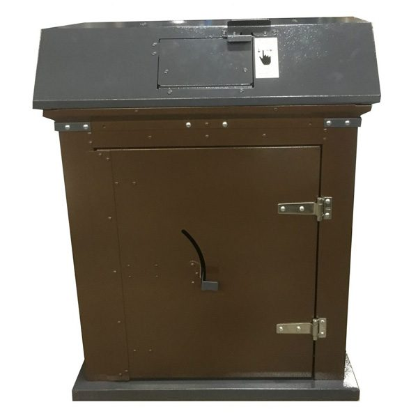 Picnic Waste Receptacle brown charcoal