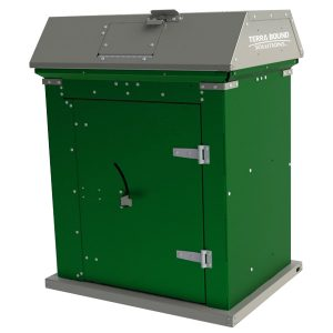 Picnic Waste Receptacle green charcoal