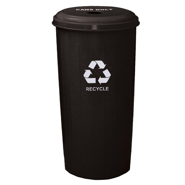 Wastebasket Recycling Containers round top black