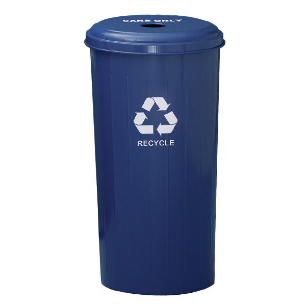 Wastebasket Recycling Containers round top blue