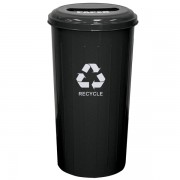 Wastebasket Recycling Containers slotted top black