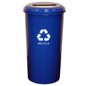 Wastebasket Recycling Containers slotted top blue