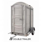portable toilet double trailer