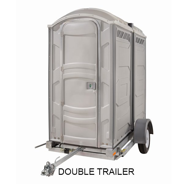 portable toilet double trailer