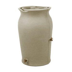 impressions amphora 50 gallon rain barrel sandstone