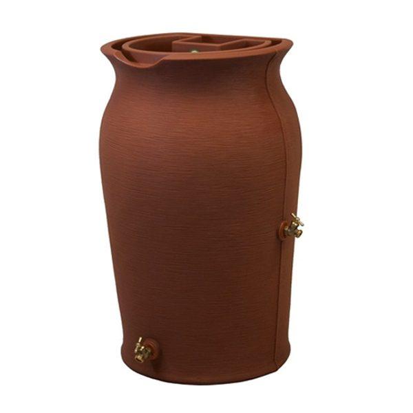 impressions amphora 50 gallon rain barrel tarra cotta