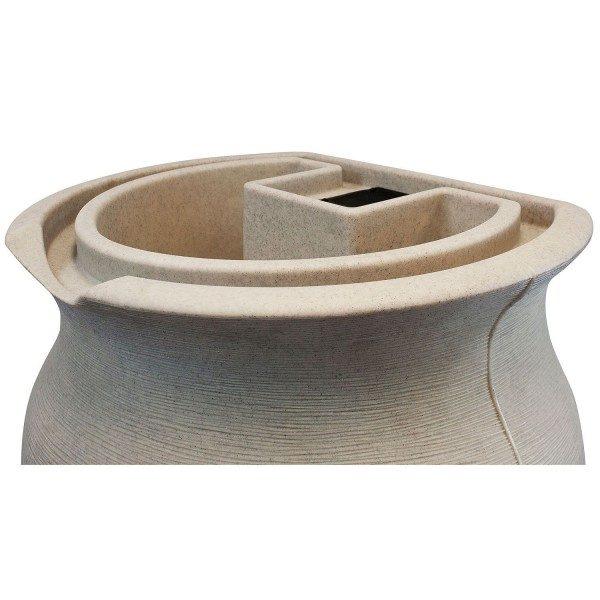 impressions amphora 50 gallon rain barrel top